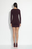 long sleeve square neck mini dress 18""
