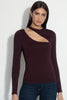long sleeve slash front top 8""