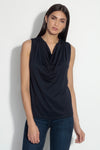 sleeveless cowl top 9""