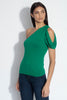 one shoulder open cowl sleeve top 8""