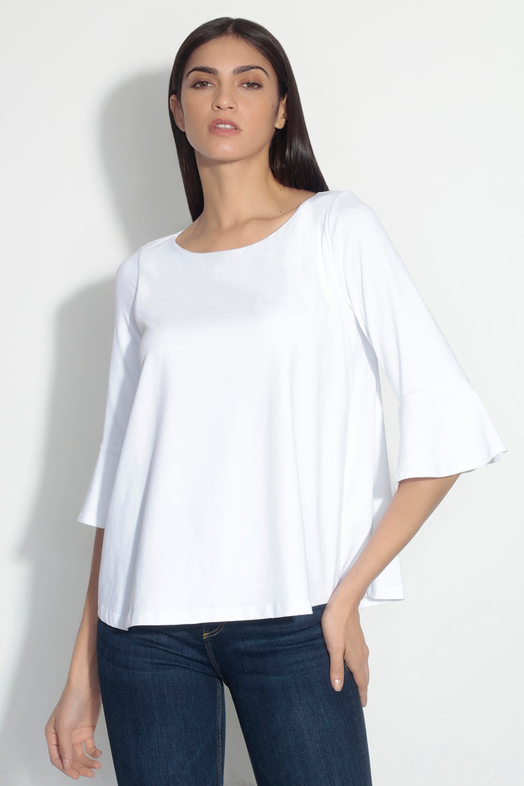 flutter edge sleeve top