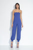 "strapless cuffed ankle jumpsuit 32"" inseam"