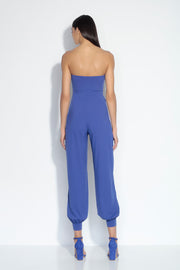 strapless cuffed ankle jumpsuit