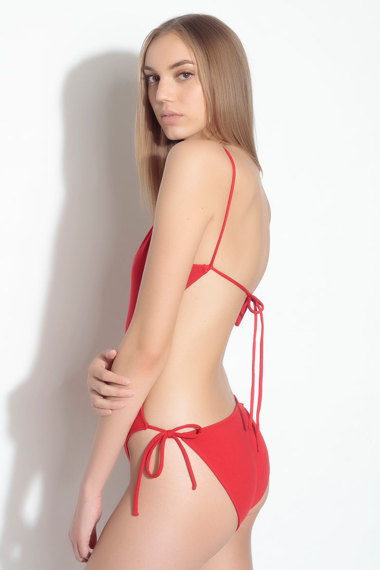 tie back one piece bathing suit