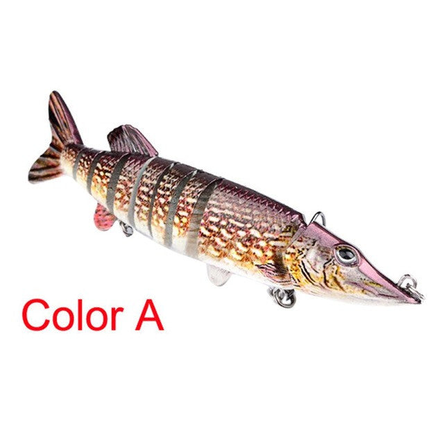 "5"" 9-Segement Plastic Muskie Fishing Lure"