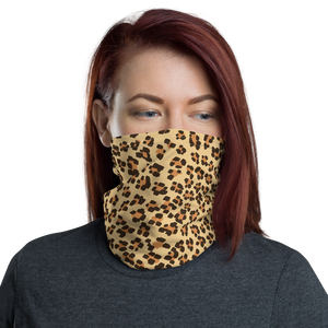 Leopard Leap Neck Gaiter Mask