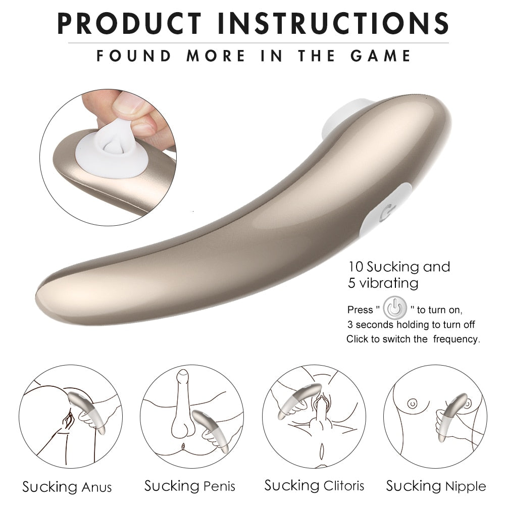 Clit Stimulator 10 Sucking Vibrations