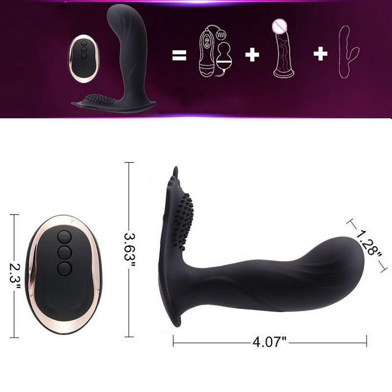 Wireless Remote Silicone Vibrating G Spot Toy- with USB charger