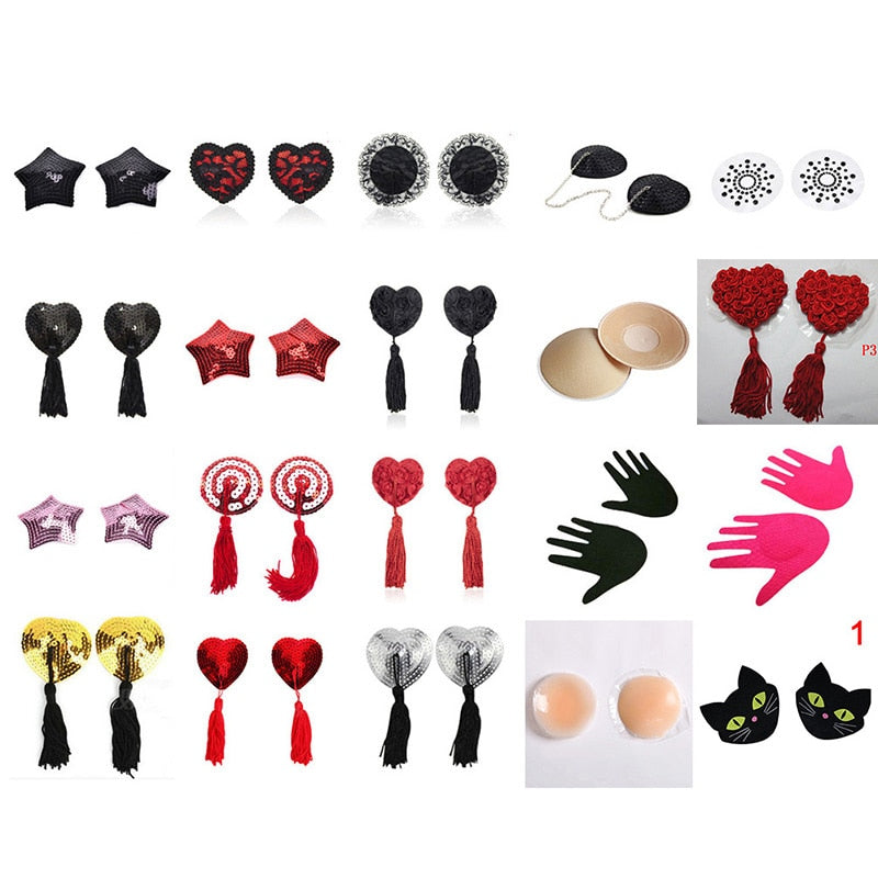 Assorted Style Nipple Covers