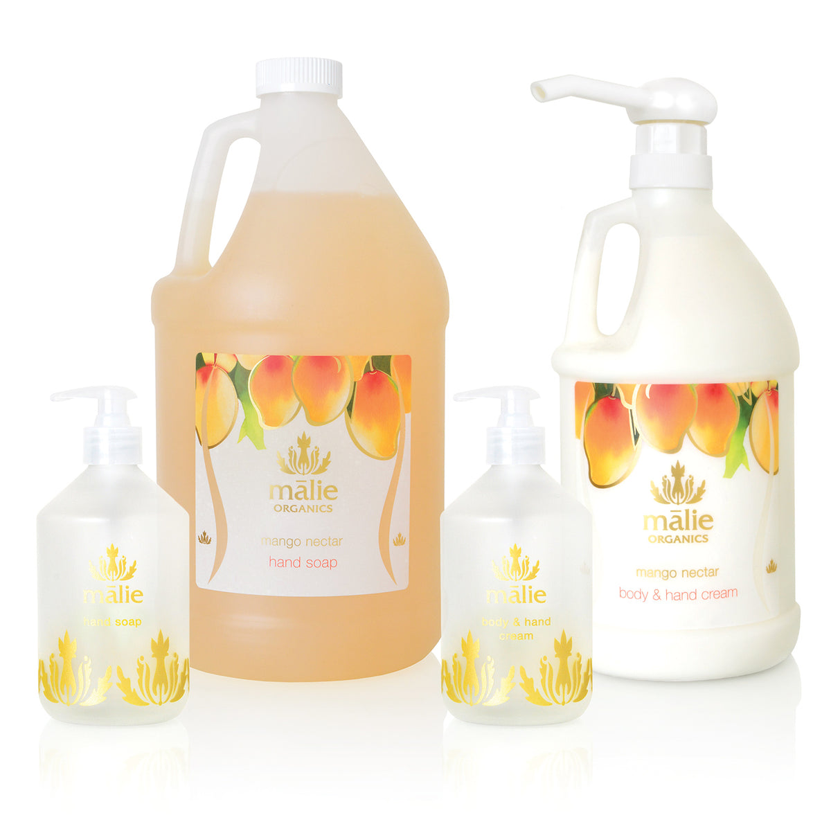 mango nectar eco-refill hand soap + body cream set - Home