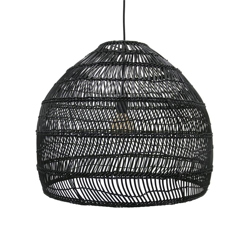 Black wicker lamp