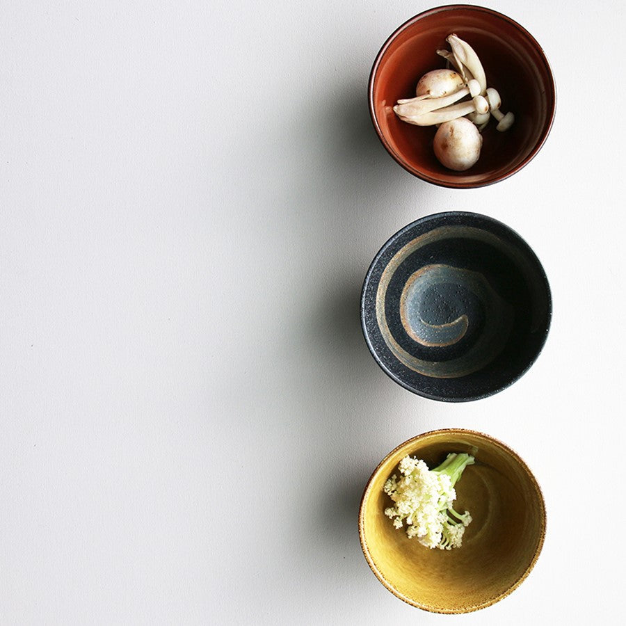 Japanese ceramic matcha bowls (set of 3)