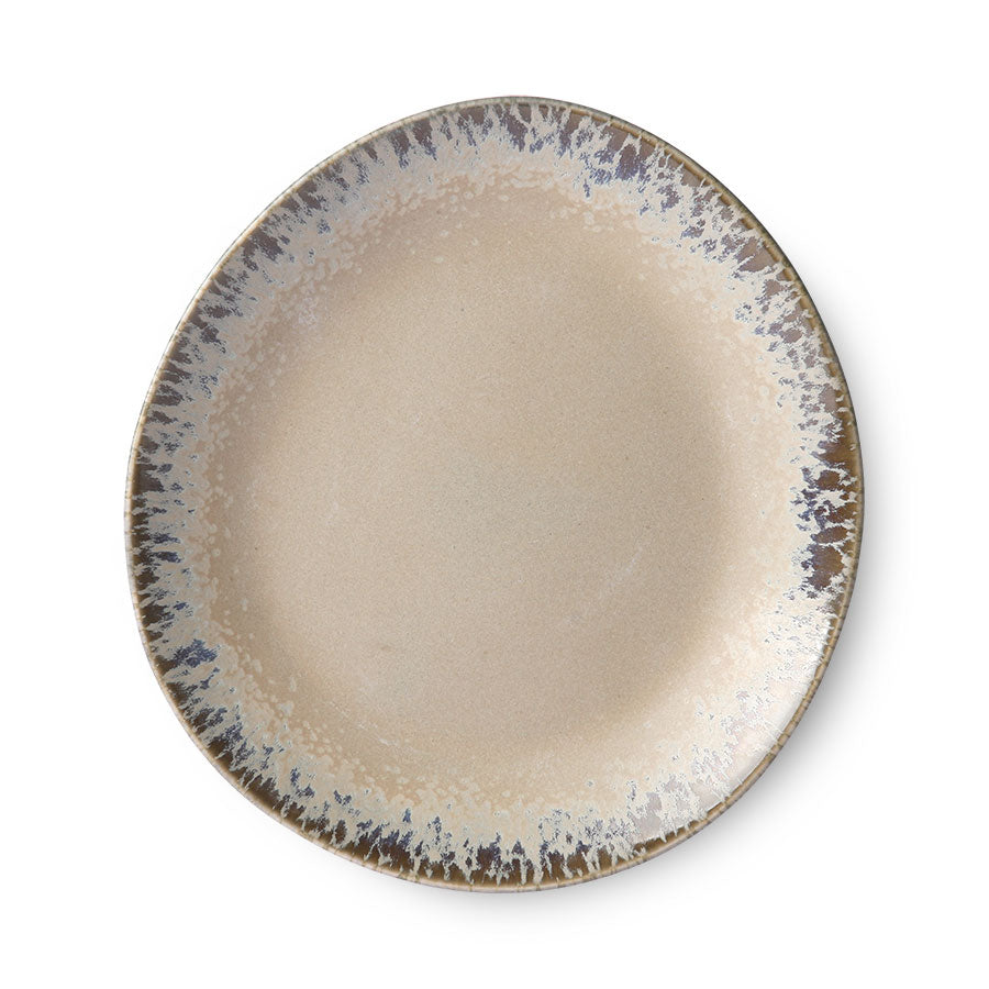 ceramic 70's side plate: bark (set of 2)