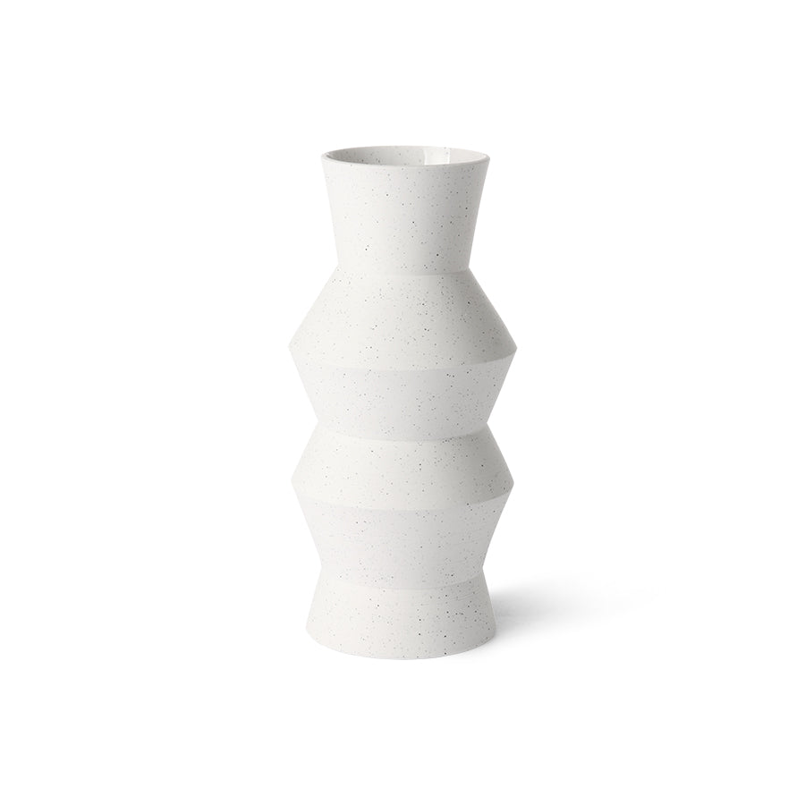 speckled clay vase angular M