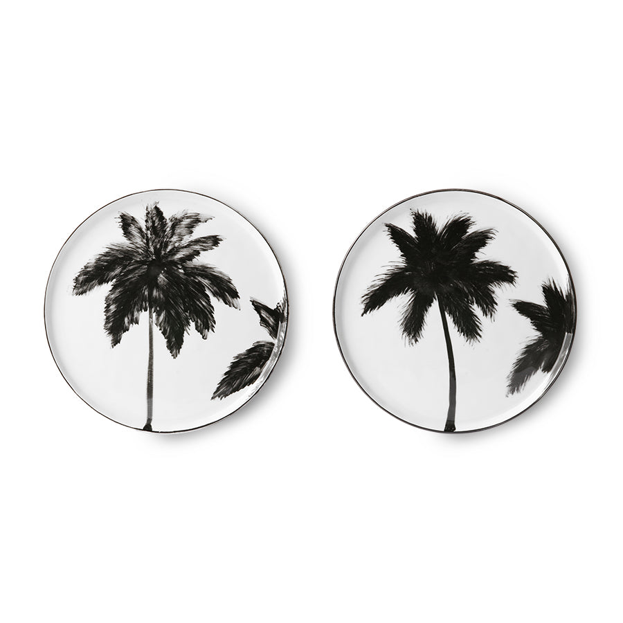 porcelain side plate palms