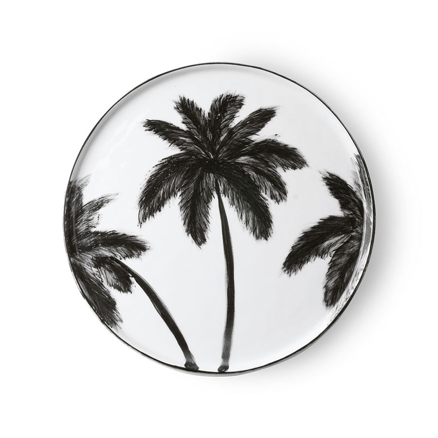 porcelain dinner plate palms