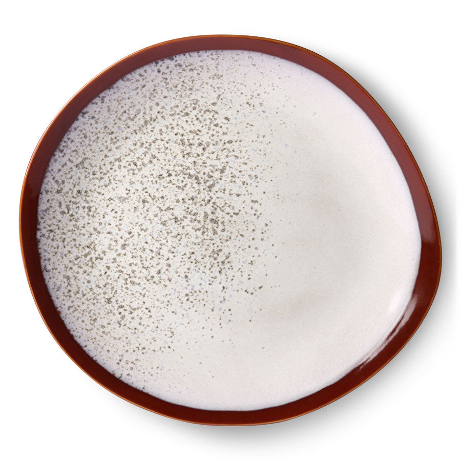 ceramic 70's dinner plate: frost (set of 2)