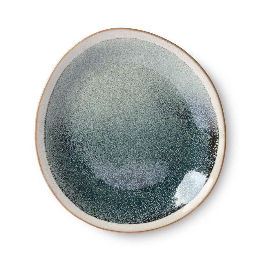 ceramic 70's side plate: mist (set of 2)