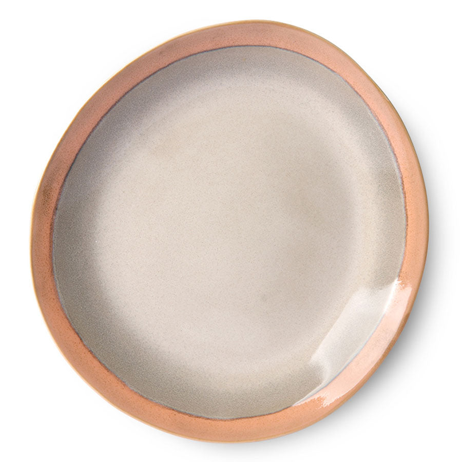 ceramic 70's dinner plate: earth (set of 2)