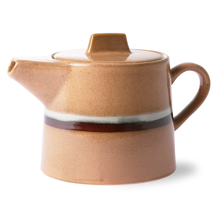 ceramic 70's tea pot: stream