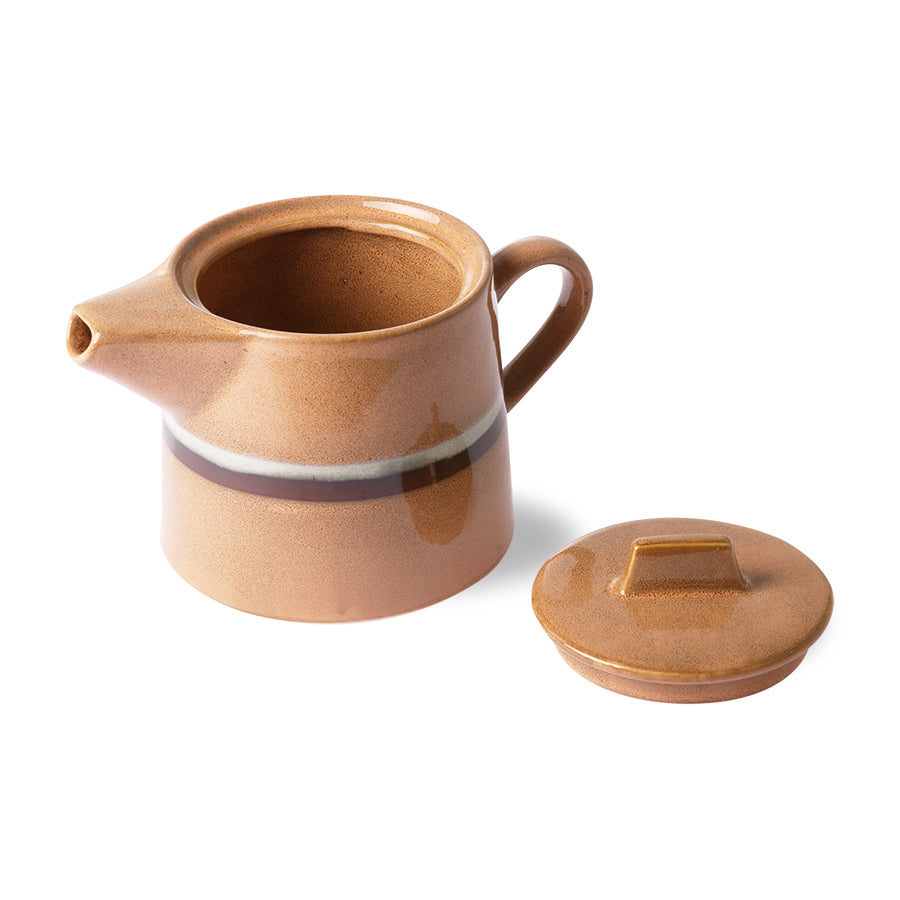 *NEW* ceramic 70's tea pot: stream