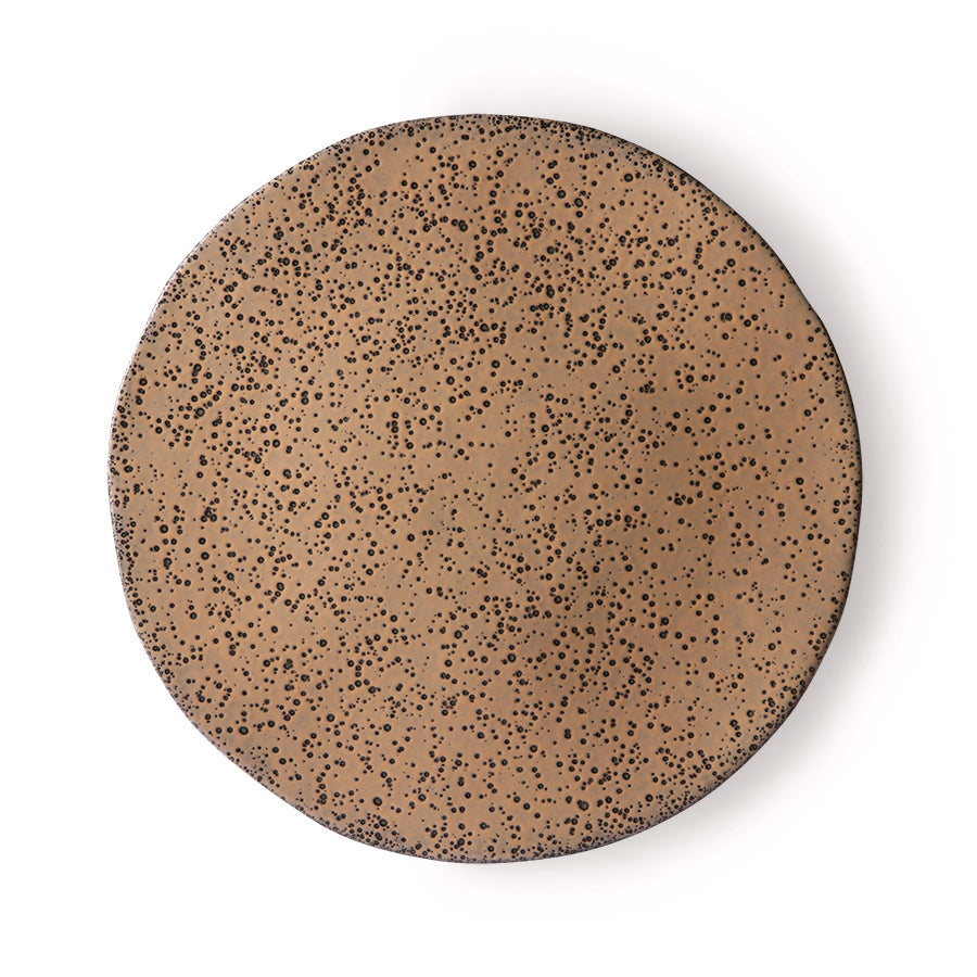Gradient ceramics: dinner plate taupe (set of 2)