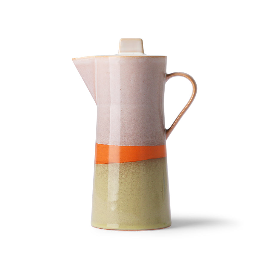 *NEW* ceramic 70's coffee pot