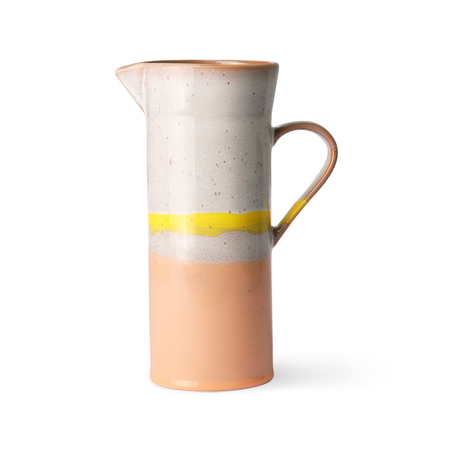 70s ceramics: jug, sunrise