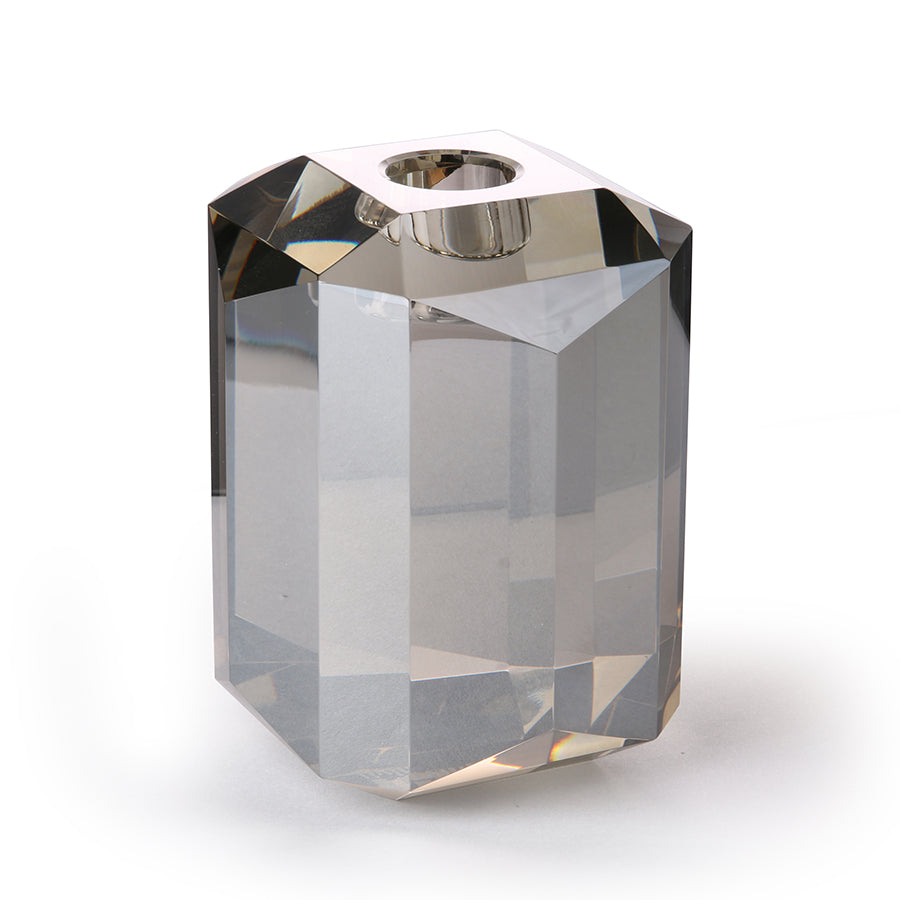 Crystal glass candle holder diamond