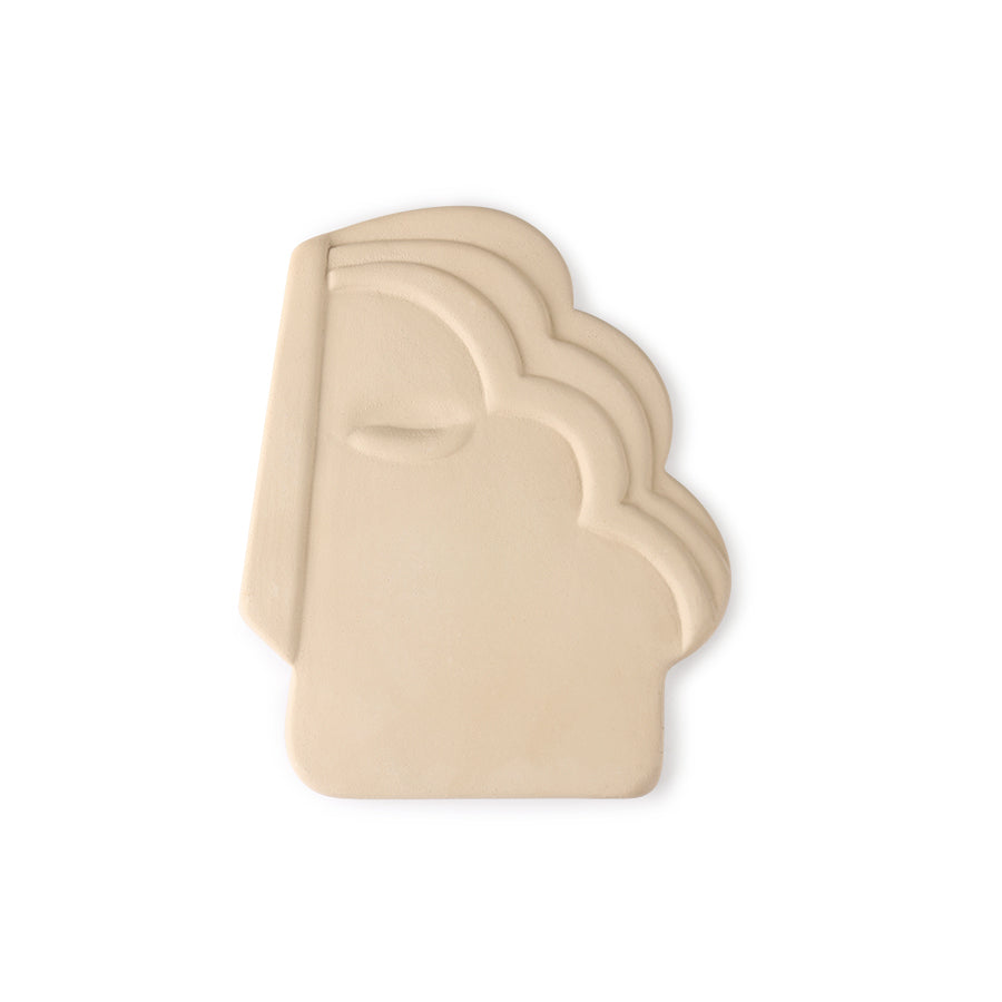 Face wall ornament m matt creme