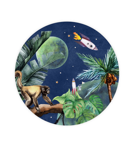 Wallpaper Circle - From Jungle to Space