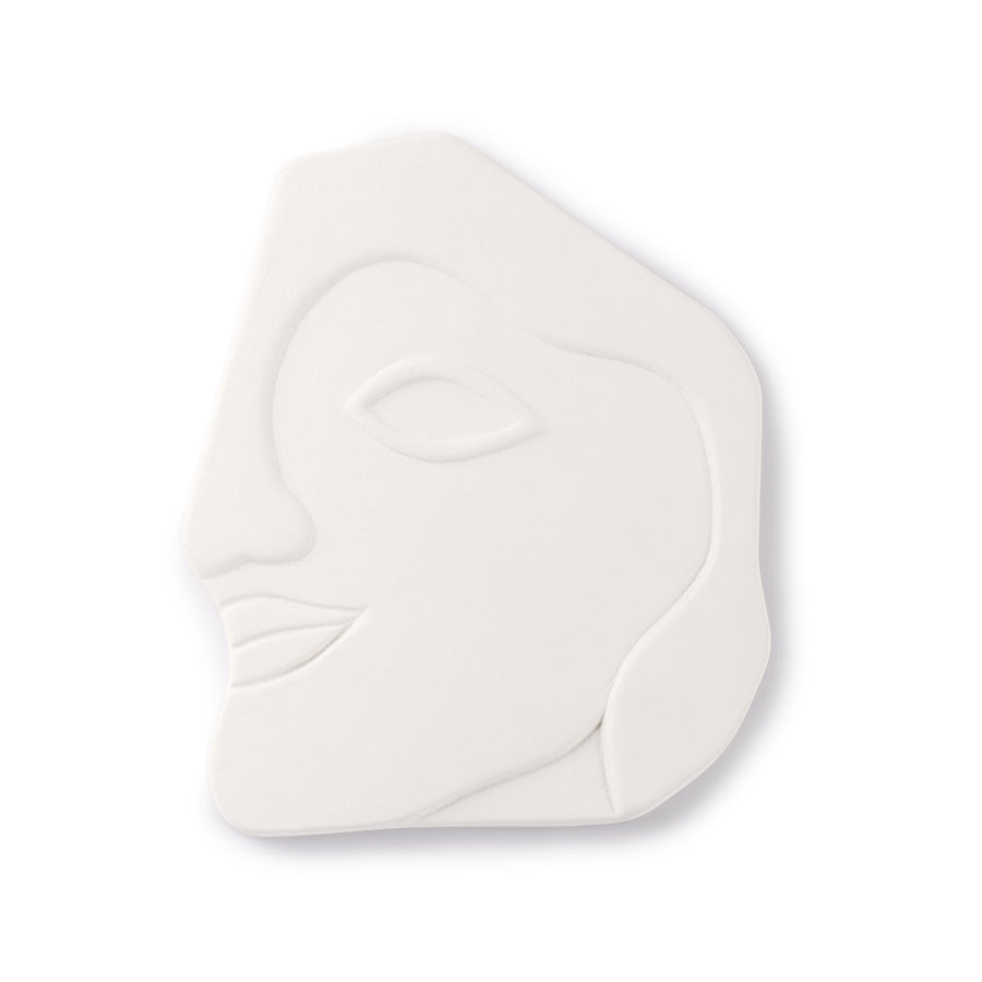 *NEW* Face wall ornament L matt white