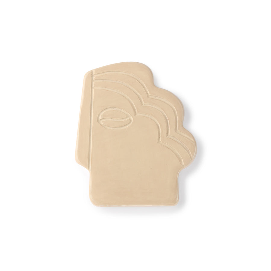 *NEW* Face wall ornament S shiny taupe