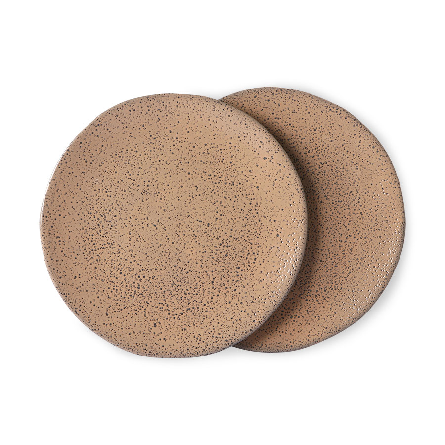 Gradient ceramics: side plate taupe (set of 2)