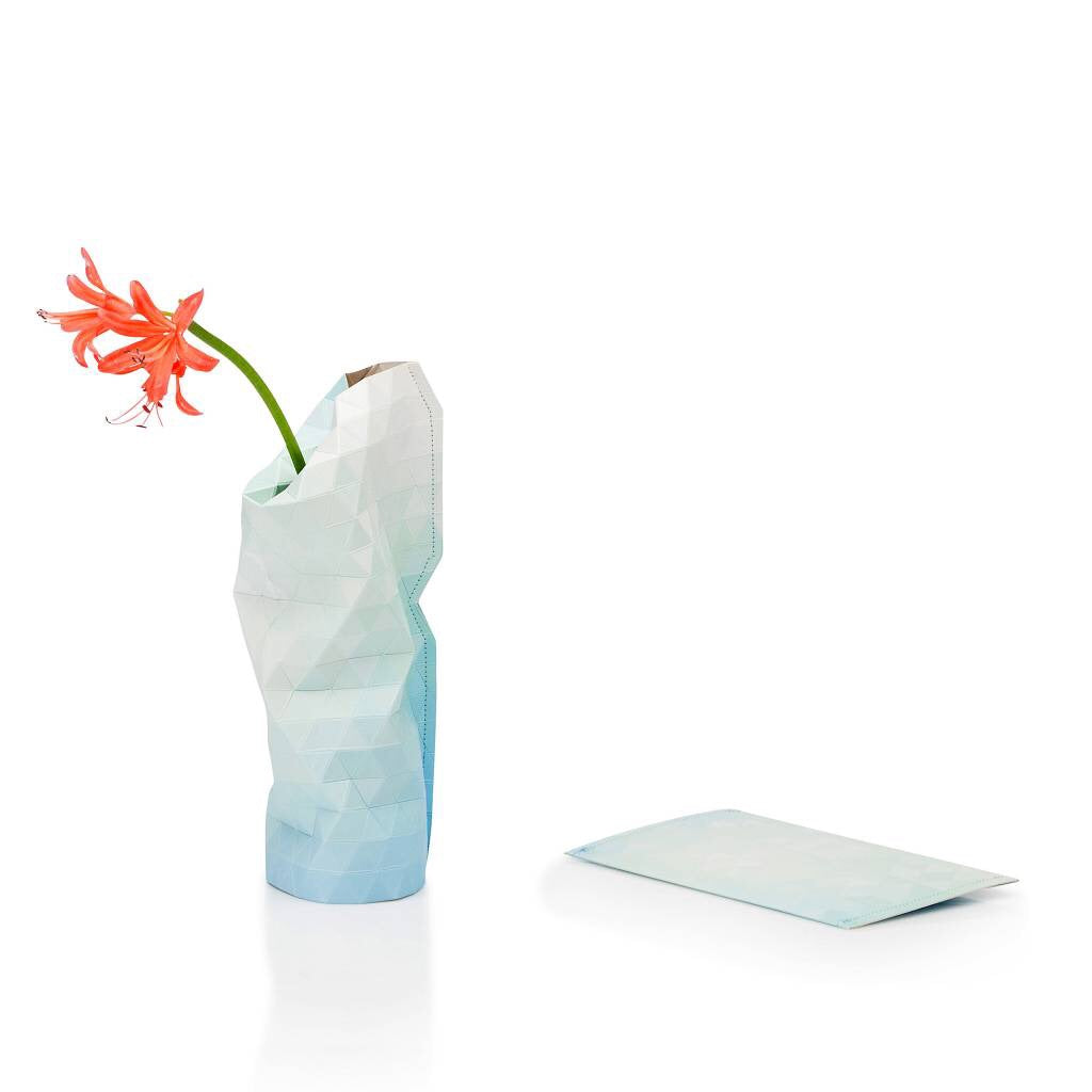 Paper vase cover Blue tones small