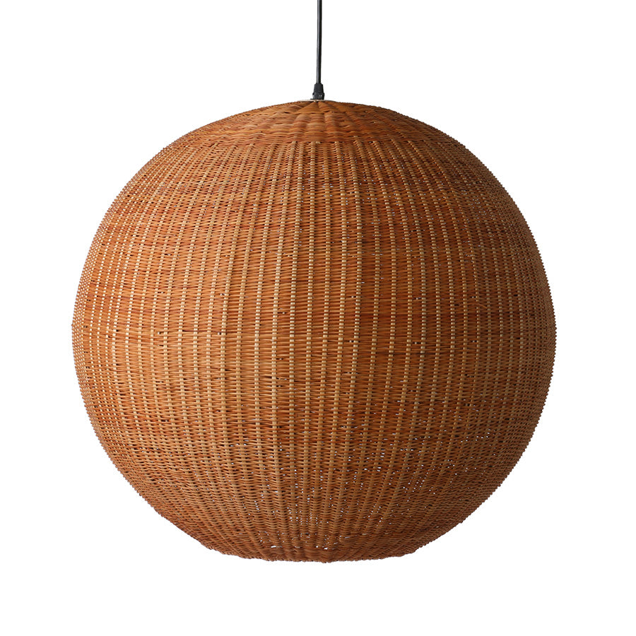 Bamboo pendant ball lamp