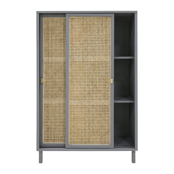Webbing sliding door Cabinet grey