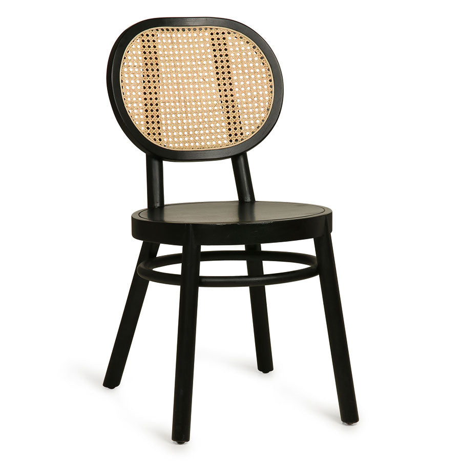 Retro webbing chair black