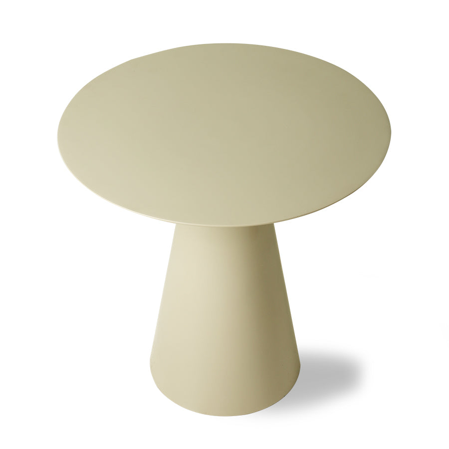 *NEW* Cream metal side table L