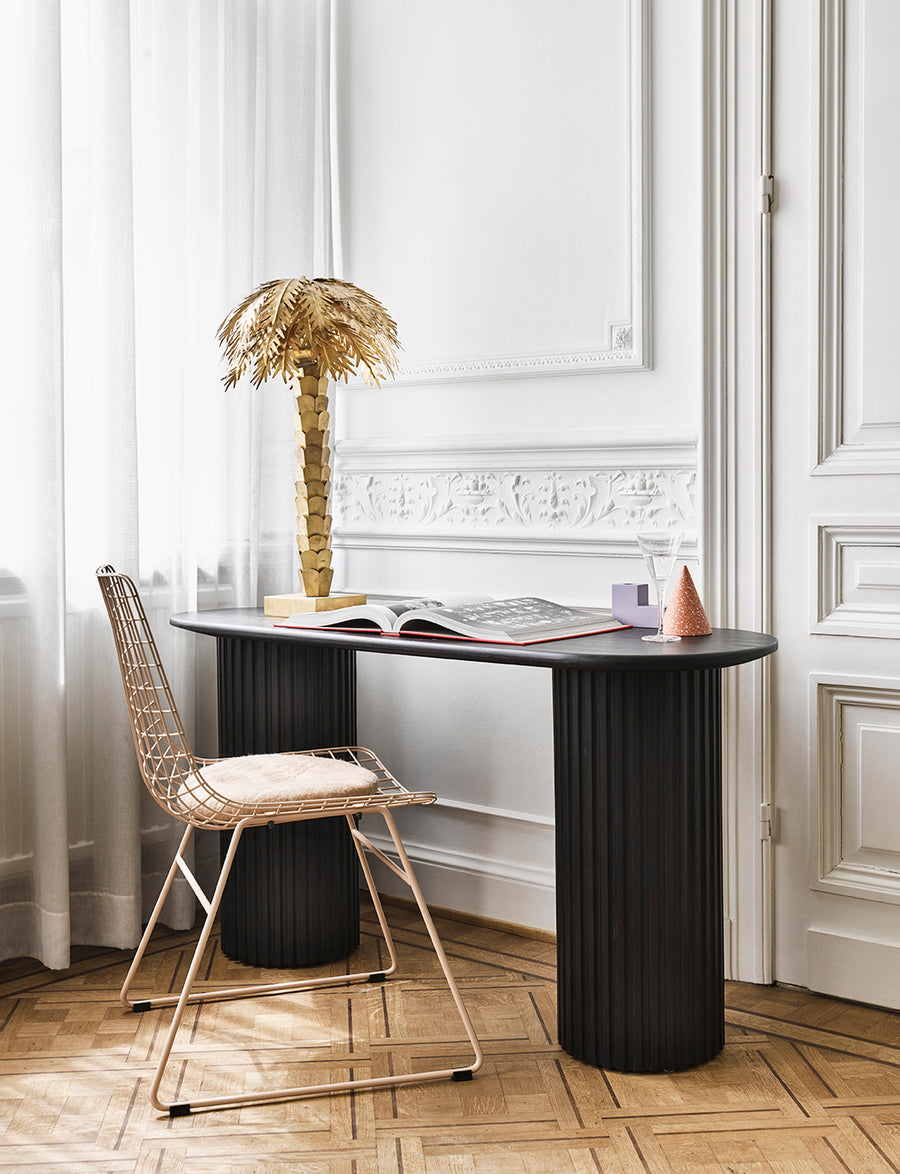 Pillar side table black