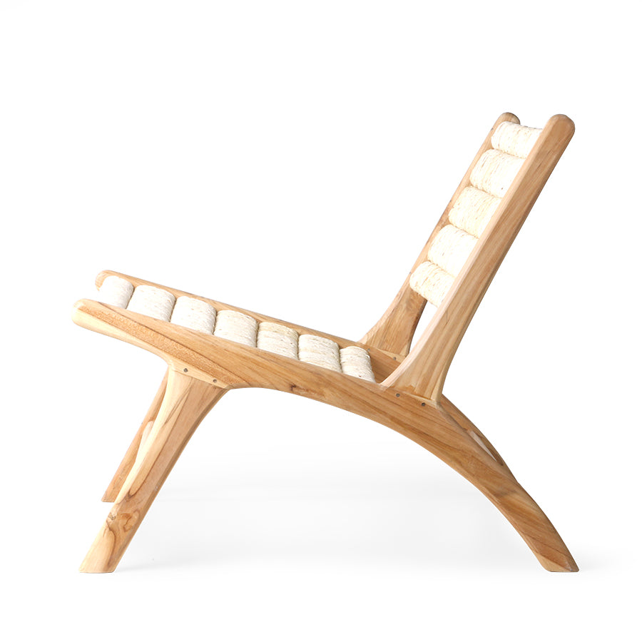 Abaca/teak lounge chair