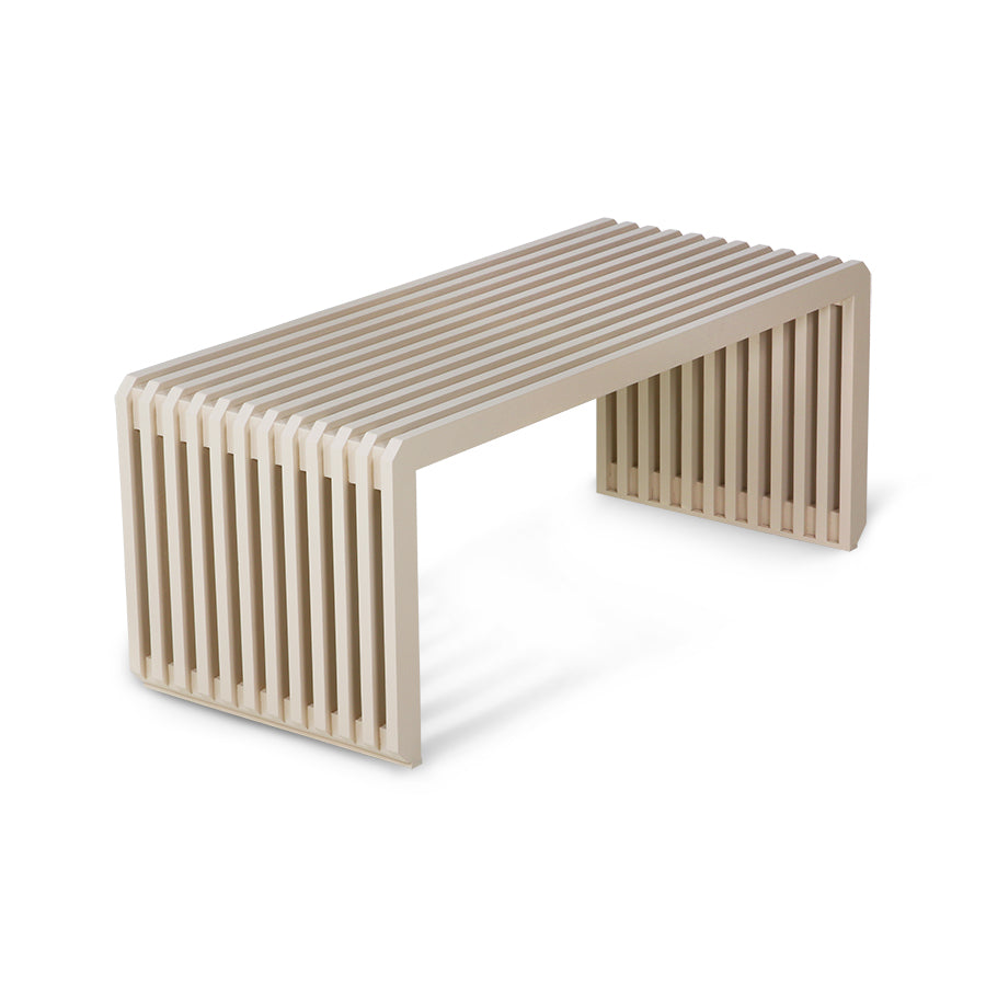 *NEW* slatted bench element