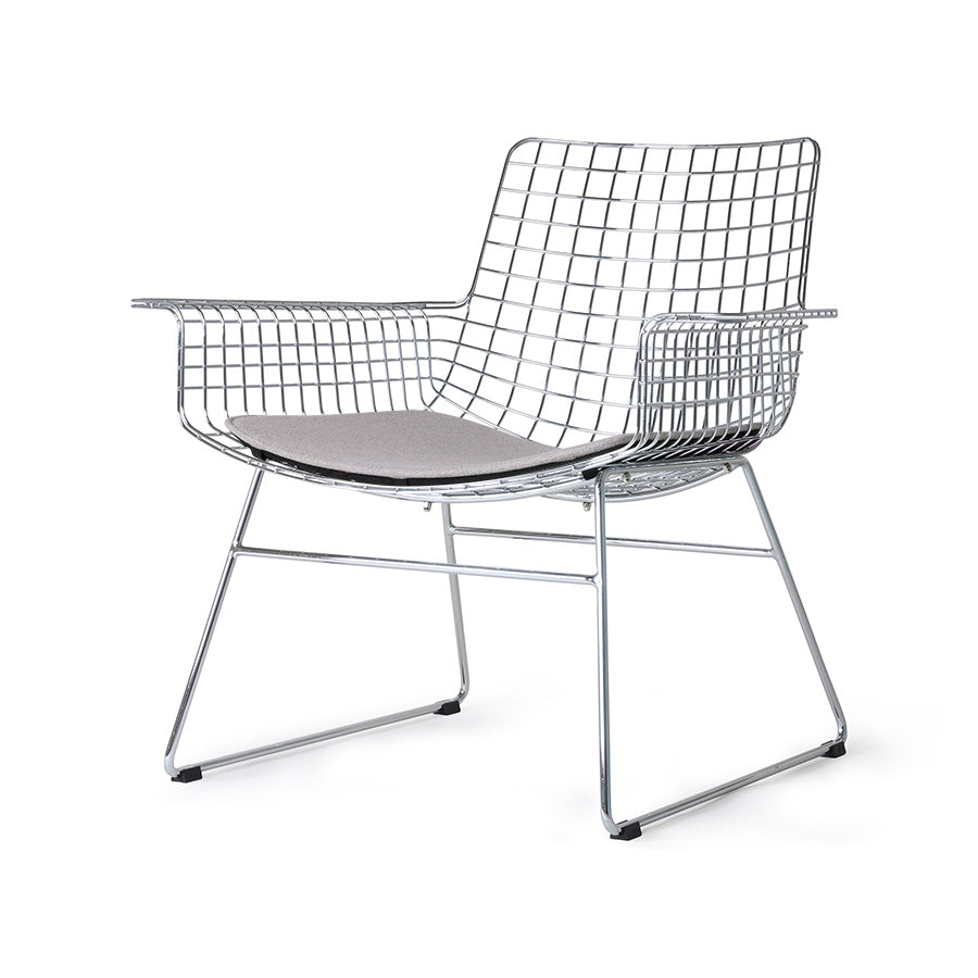 *NEW* metal wire lounge chair silver