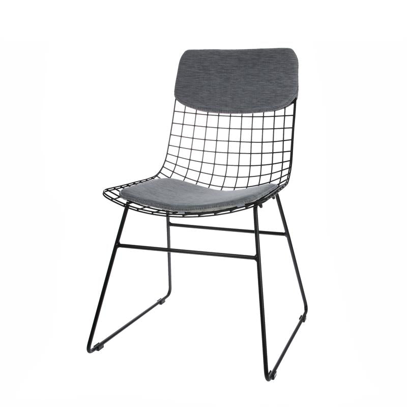 Metal wire dining chair