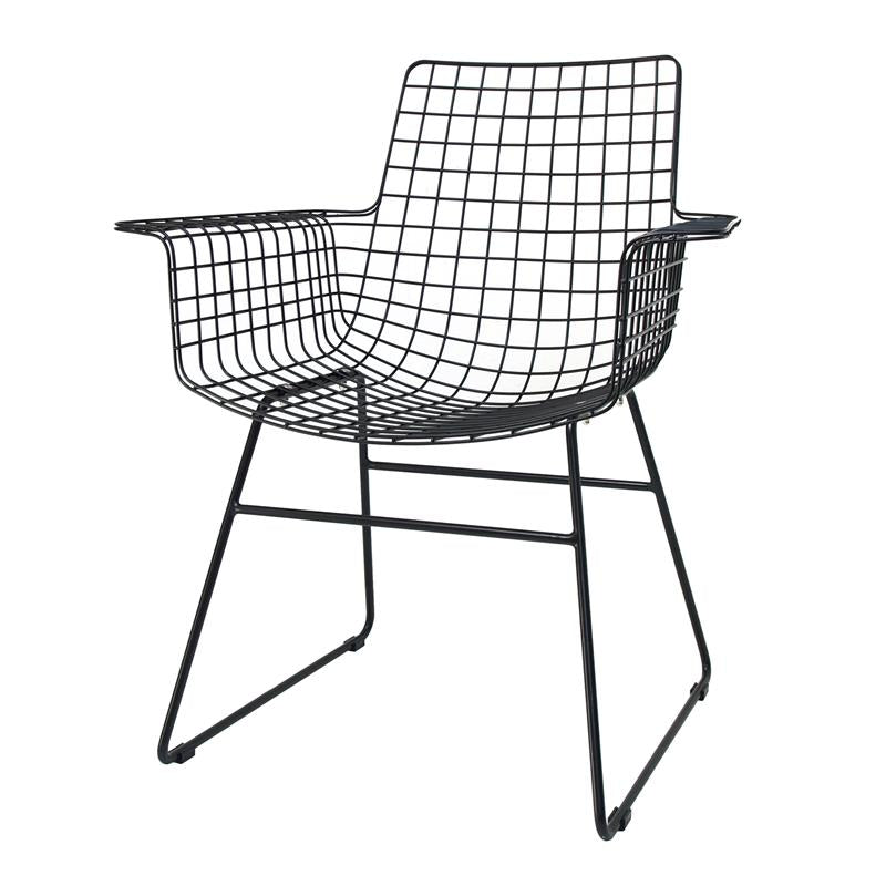 Metal wire armchair