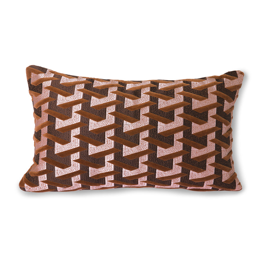 Geometric cushion bordeaux