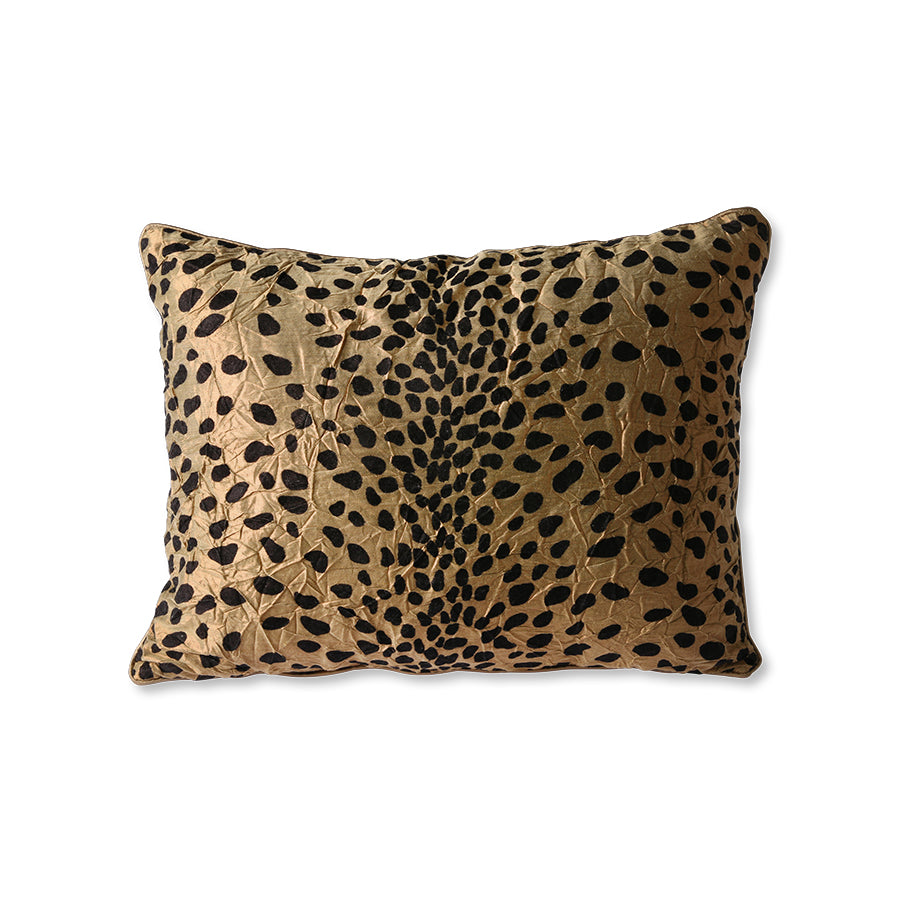 Doris for HKLiving: cushion flock print panther