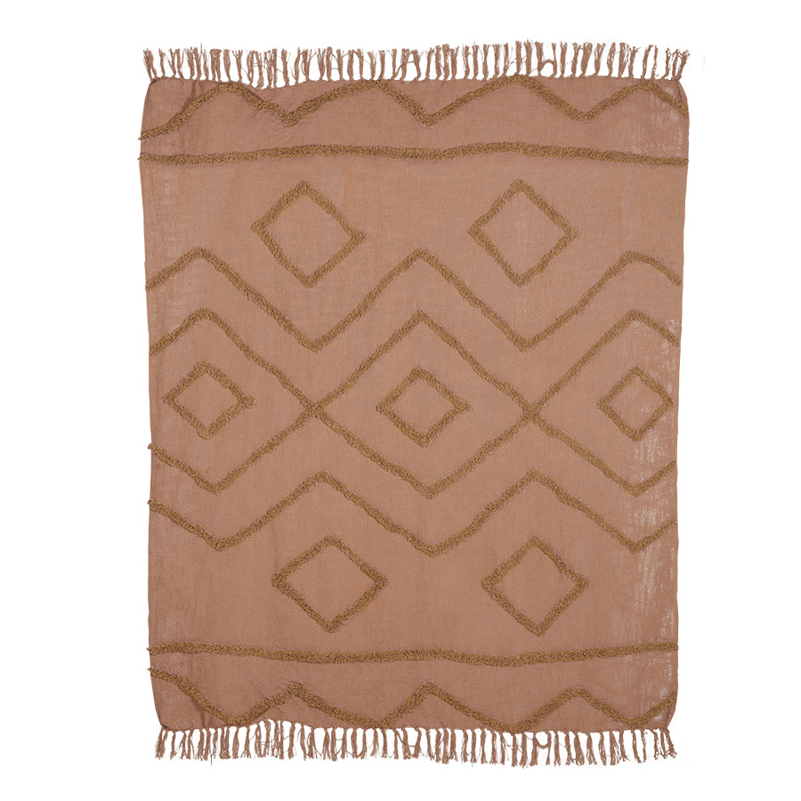 cotton fringe throw
