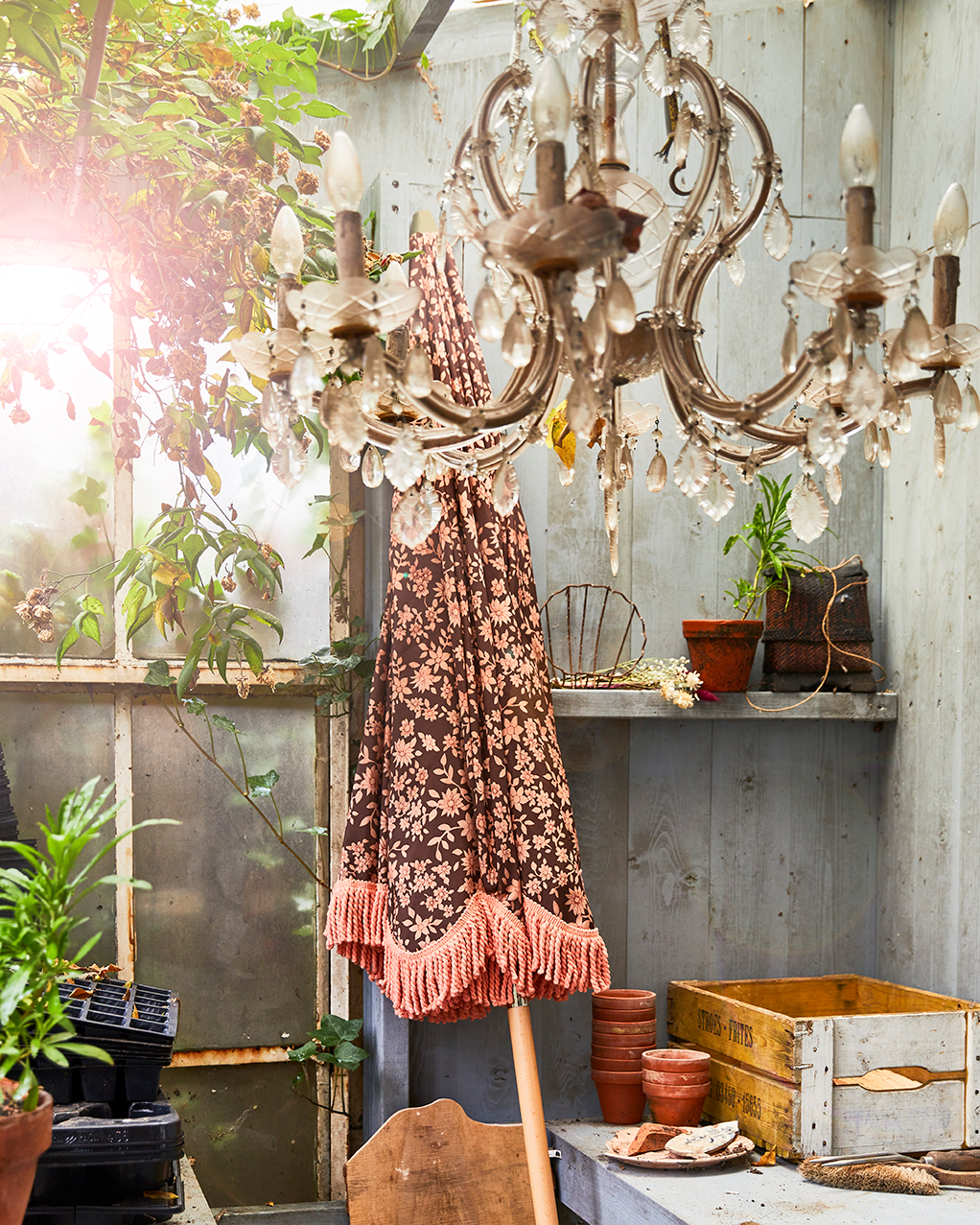 DORIS for HKLIVING: beach umbrella vintage floral