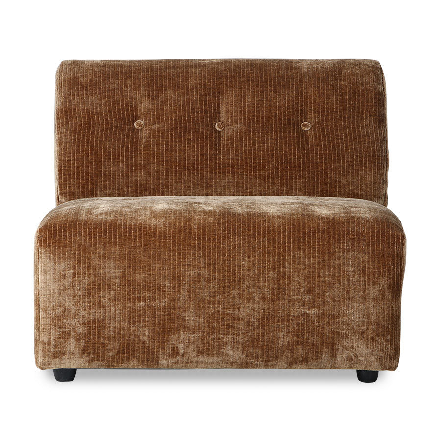 vint couch: element middle, corduroy velvet, aged gold